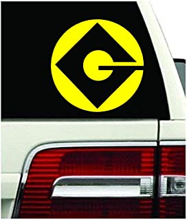 Gru Despicable Me Dru Me G Logo Minium Vinyl Decal Sticker (5.5