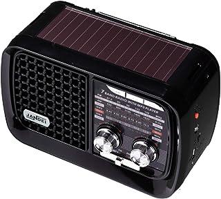 Jandei - Radio con Panel Solar 7 Bandas, Bluetooth batería Ion Litio Recargable