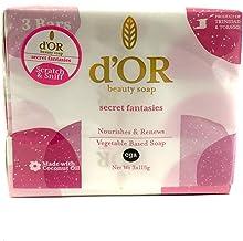d'OR Vegan Beauty Soaps Combo Pack 3x115gram (d'OR Bath Soaps Secret Fantasies)