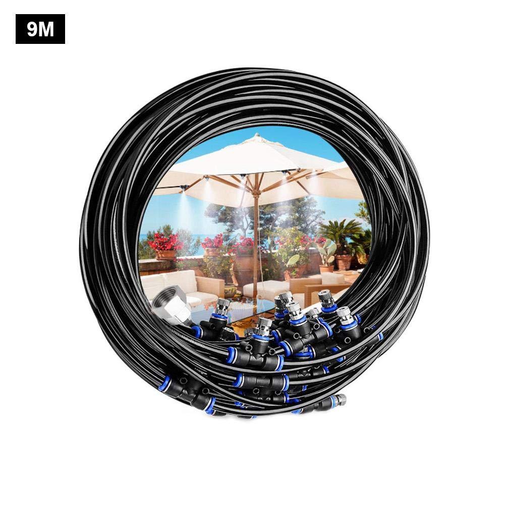 cming Kit Nebulizador Jardin 6M18M Sistema De Nebulizacion para Exteriores Terraza Pergola, Sistema De Enfriamiento por Nebulización, Difusor De Agua Terraza, Kit Nebulizadores para Terrazas (Negro): Amazon.es: Deportes y aire libre