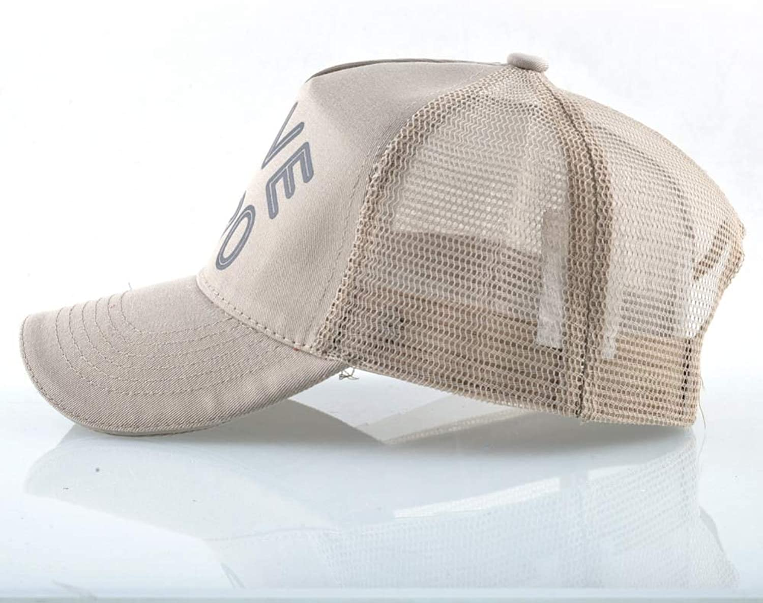 AAMOUSE Solid Baseball Cap with Letters Mesh Hats for Men Women Outdoor Breathable Sports Visor Cap Trucker Bone
