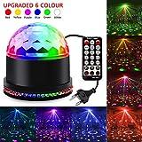 Led Discolicht Discokugel Kinder,11 Modi Led Partylicht Disco Lichteffekte Partybeleuchtung,Discokugel Led Party Lampe Disco licht Musikgesteuert mit Fernbedienung Beleuchtung für Party