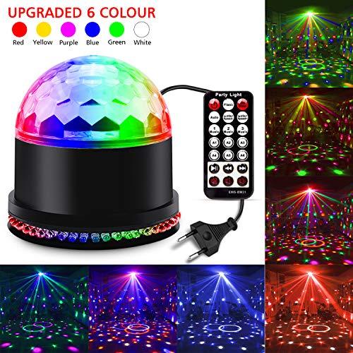 Led Discolicht Discokugel Kinder,11 Modi Led Partylicht Disco Lichteffekte Partybeleuchtung,Discokugel Led Party Lampe Disco licht Musikgesteuert...