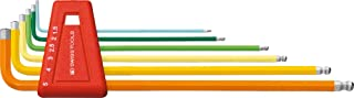 PB Swiss Tools PB 212LH-5 RB Ballend Hex Key Set Long Rainbow