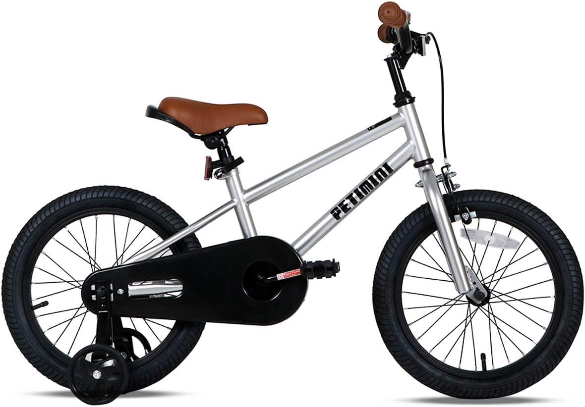 Petimini 14 16 Kids Bike for Boys Girls 2.5-6 Years Old with ...