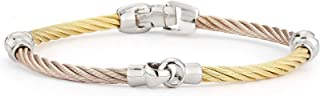 ALOR Carnation & Yellow Cable Interlocking Bracelet