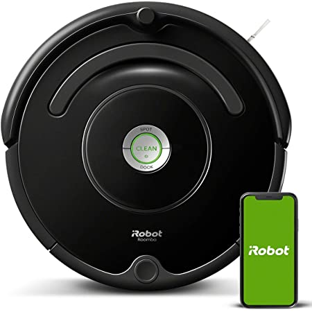 iRobot - Robot aspirador Roomba 671 conectado a WIFI, Para alfombras y suelos, Tecnología Dirt Detect, Sistema limpieza en 3 fases, Sugerencias personalizadas, Compatible con asistentes de voz