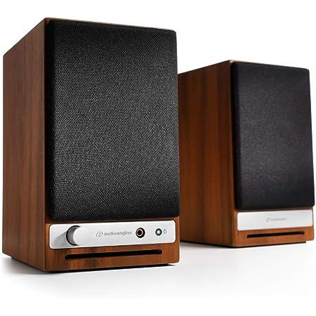 Audioengine HD3 Wireless Speaker   Desktop Monitor Speakers   Home Music System aptX HD Bluetooth, 60W Powered Bookshelf Stereo Speakers, AUX Audio, USB, RCA Inputs/Outputs, 24-bit DAC (Walnut)