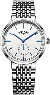 Rotary GB05060-02 Mens Timepieces Canterbury Silver Steel Bracelet Watch