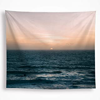 All Smiles Ocean Sunrise Tapestry Wall Hanging Nature Landscape Sunset Wave Sky Water House Decor Art 51