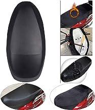 Ecisi Funda de Asiento de Motocicleta de dise/ño de Tela Oxford y PU de Doble Cara 2 en 1 Protector de Cubierta de Asiento de Moto Universal Resistente al Desgaste para Todas Las Estaciones