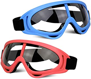 POKONBOY 2 Pack Protective Goggles / Safety Glasses / Motorcycle Eyewear with Bandanas - Compatible with Nerf Game Battle ...