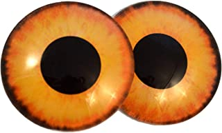 Wild Creature Animal Glass Eyes Fantasy Art Dolls Taxidermy Sculptures or Jewelry Making Cabochons Crafts Matching Set of 2 (40mm)