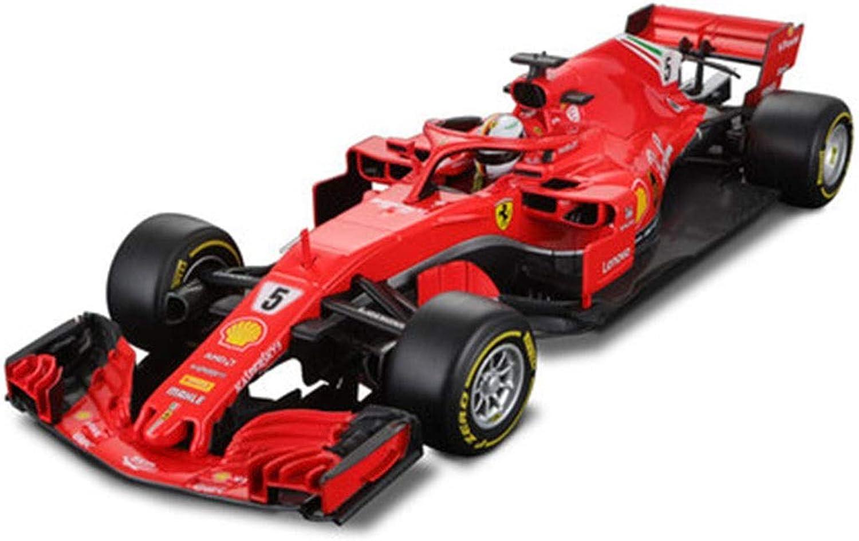 HBWJSH 1 18 Ferrari F1 Car Model Formula Racing Sf71h Simulation Alloy Car Model ( color   2018 Ferrari f1-5 )