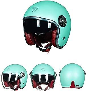 Bobber Custom Open Face Helmet Four Seasons Breathable Bobber Moped Harley Cafe Racer Pilot Cruiser Jet Chopper Retro Shell Helmet 3/4 DOT Certification,XXL