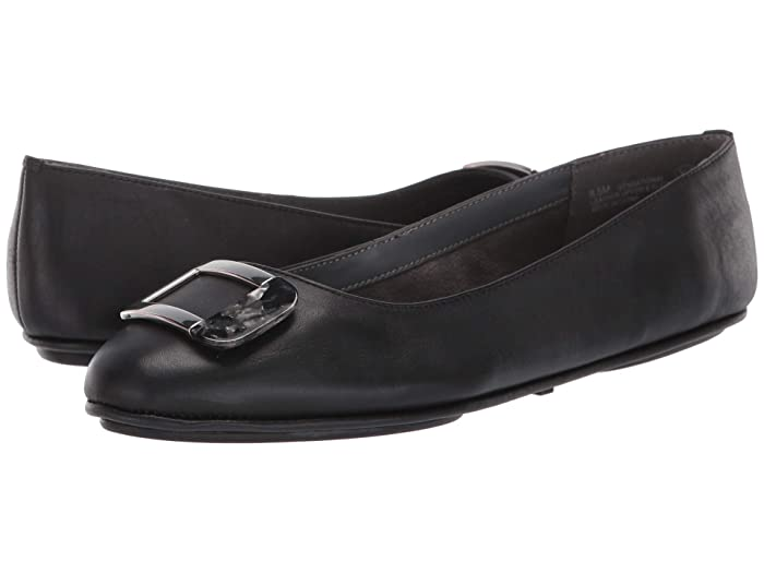 Aerosoles  Sensational (Black Leather) Womens Flat Shoes