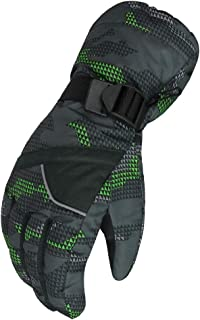 WATERFLY Mens Winter Gloves Snow Gloves Warm Waterproof Windproof Ski Gloves