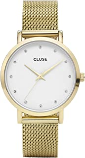 CLUSE Pavane Gold Stones CL18302 Women's Watch 38mm Stainless Steel Bracelet Minimalistic Design Casual Dress Japanese Quartz Elegant Timepiece
