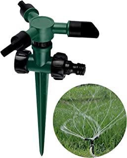 Fealay Garden Sprinkler, Lawn Watering Sprinkler, Automatic 360° Rotating Sprinkler for Lawn Backyard Watering Cooling
