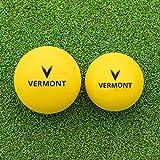 Vermont Pelotas de Tenis – Bolas de Espuma de Mini Tenis [Nivel 3] | Aprobadas por la ITF – Cualquier Superficie (Pack de 3, 90mm)