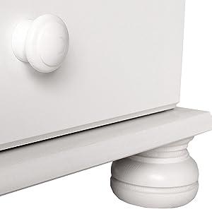Furniture To Go 2 Copenhagen-Cassettiera a 4 cassetti, 90 x 83 x 39 cm, colore: bianco