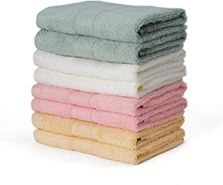 YOOFOSS Washcloths Bamboo Face Cloths 8 Pack Fingertip-Face-Hand Towels Thick & Large 13''x13'' Soft & Absorbent for Bathroom-Hotel-Spa-Kitchen