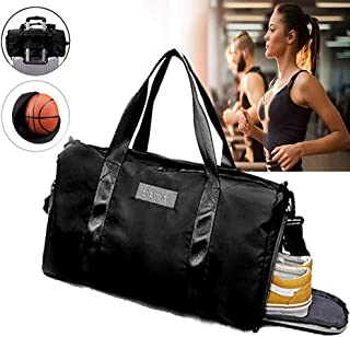 Big Sports Gym Bag for Workout with Wet Pocket & Shoes Compartment Outfoor Yoga Pilates Travel Duffel Bag for Men and Women