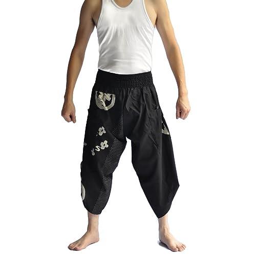 89eec47d9 Siam Trendy Men's Japanese Style Pants One Size Black Japanese design