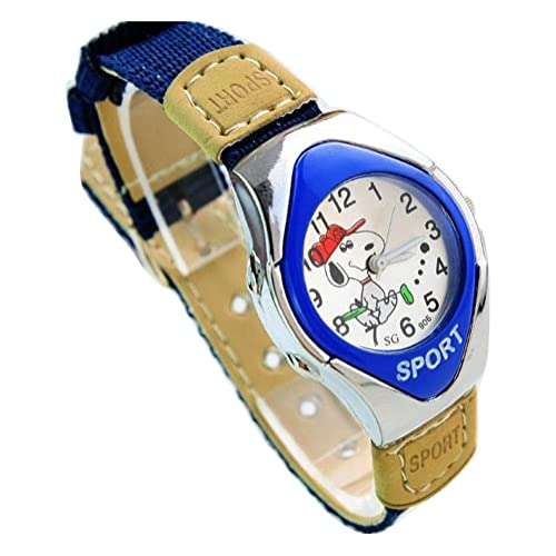 5aacbab2f1 NEW Lovely Snoopy children kids cartoon Watches Textile Watch Band  WP@KTW169839L