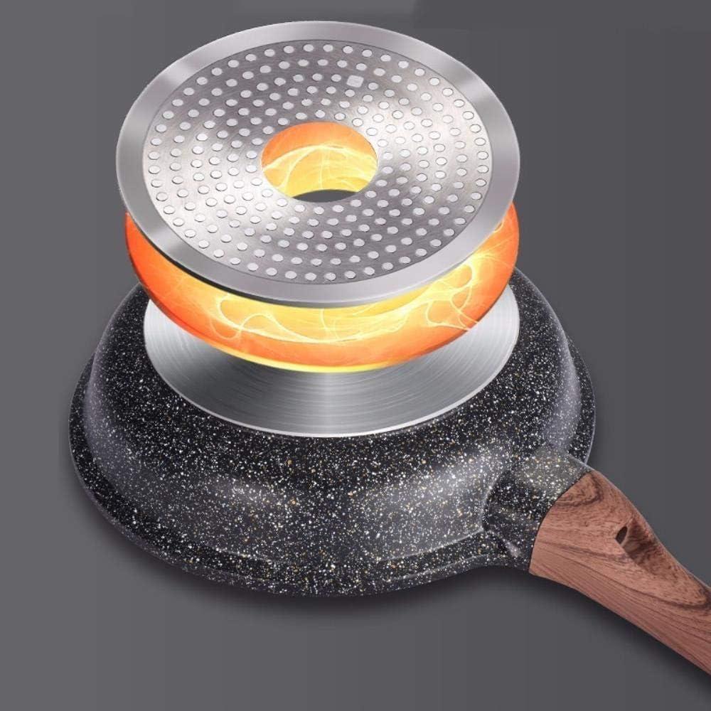 PKJP 20-28CM Poêle à Frire antiadhésive Poêle à Frire Ustensile de Cuisine, Casserole à Oeufs en crêpe, poêle de 24 cm avec Couvercle 24cm Pan With Cover
