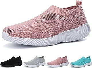 L LOUBIT Women Sneakers Handmade Slip On Woven Shoes Breathable Walking Shoes