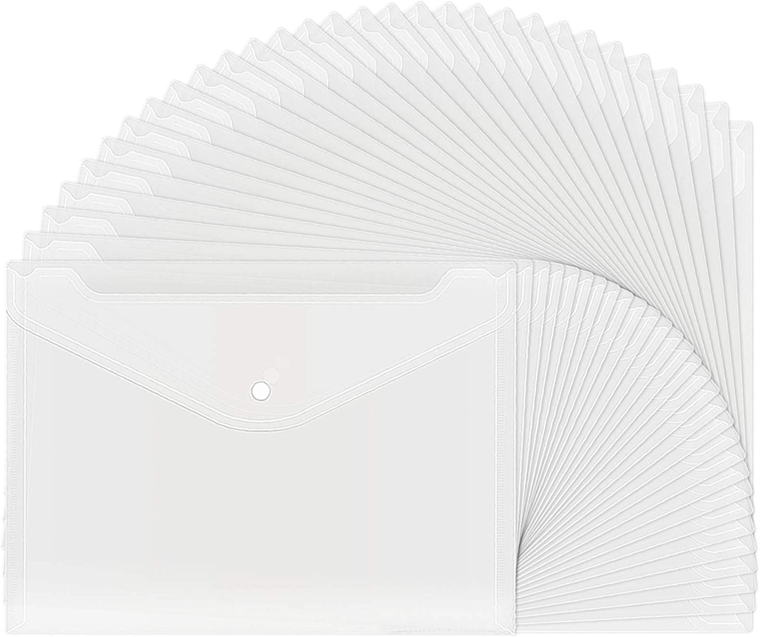 30pcs Deluxe Plastic Envelopes Max 77% OFF Clear Reusable Envelope Poly Waterproof