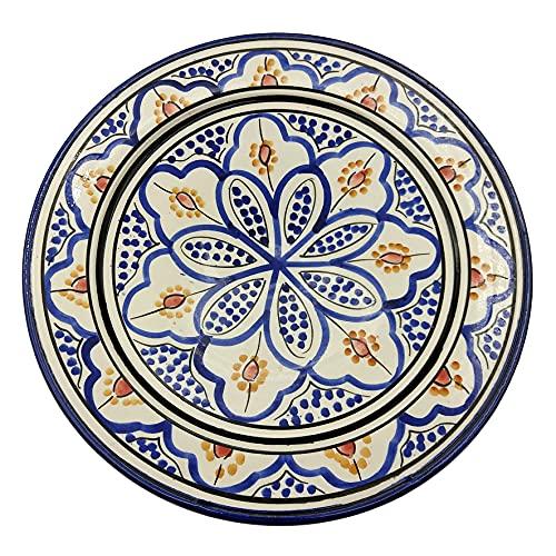 Plato de cerámica terracota pared capacidad étnico marroquí Tunisino 2204211013
