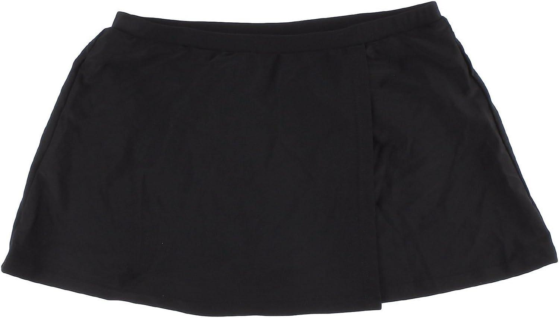 Croft & Barrow Hip Minimizer Skirtini Bottoms for Women (24W, Black)