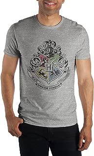 Harry Potter Hogwarts Crest & Motto Draco Dormiens Nunquan Titillandus Men's Dark Gray Tee T-Shirt Shirt