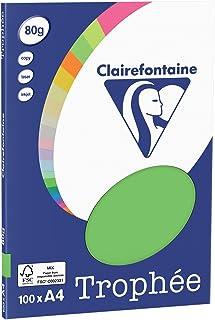 Clairefontaine Trophée - Mini resma de papel, 100 hojas, A4, 21 x 29.7 cm, color verde menta