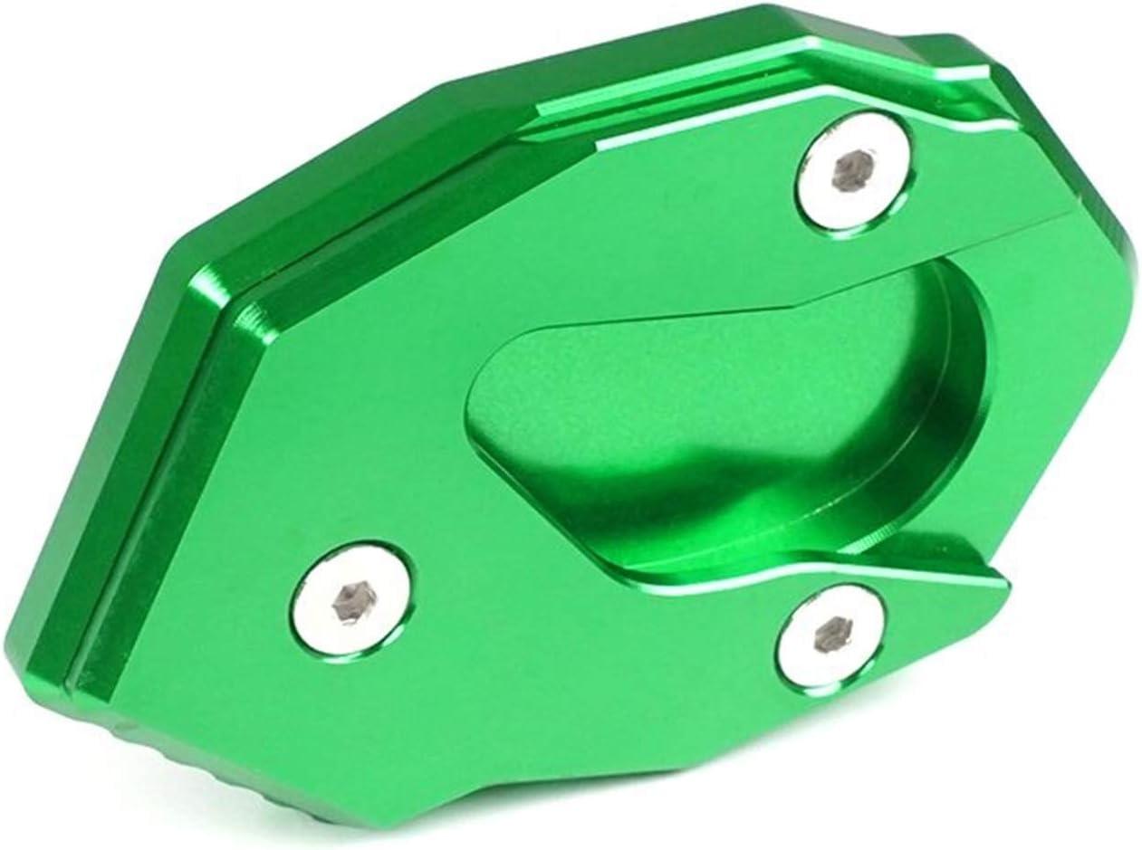 Couleur : Green Lat/éral Pad B/équille Plaque dextension de la Plaque de Support lat/érale de Kickstand pour Kawasaki Ninja ZX6R ZX10R 250 300 650 1000 Z1000 Z650 Z900 H2 SX