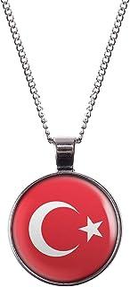 VAWAA Petite Taille Turquie Ataturk Pendentif Colliers pour Femmes Or Couleur Turc Pi/èces de Monnaie Bijoux Cadeaux Ethniques 45 cm Fine Cha/îne