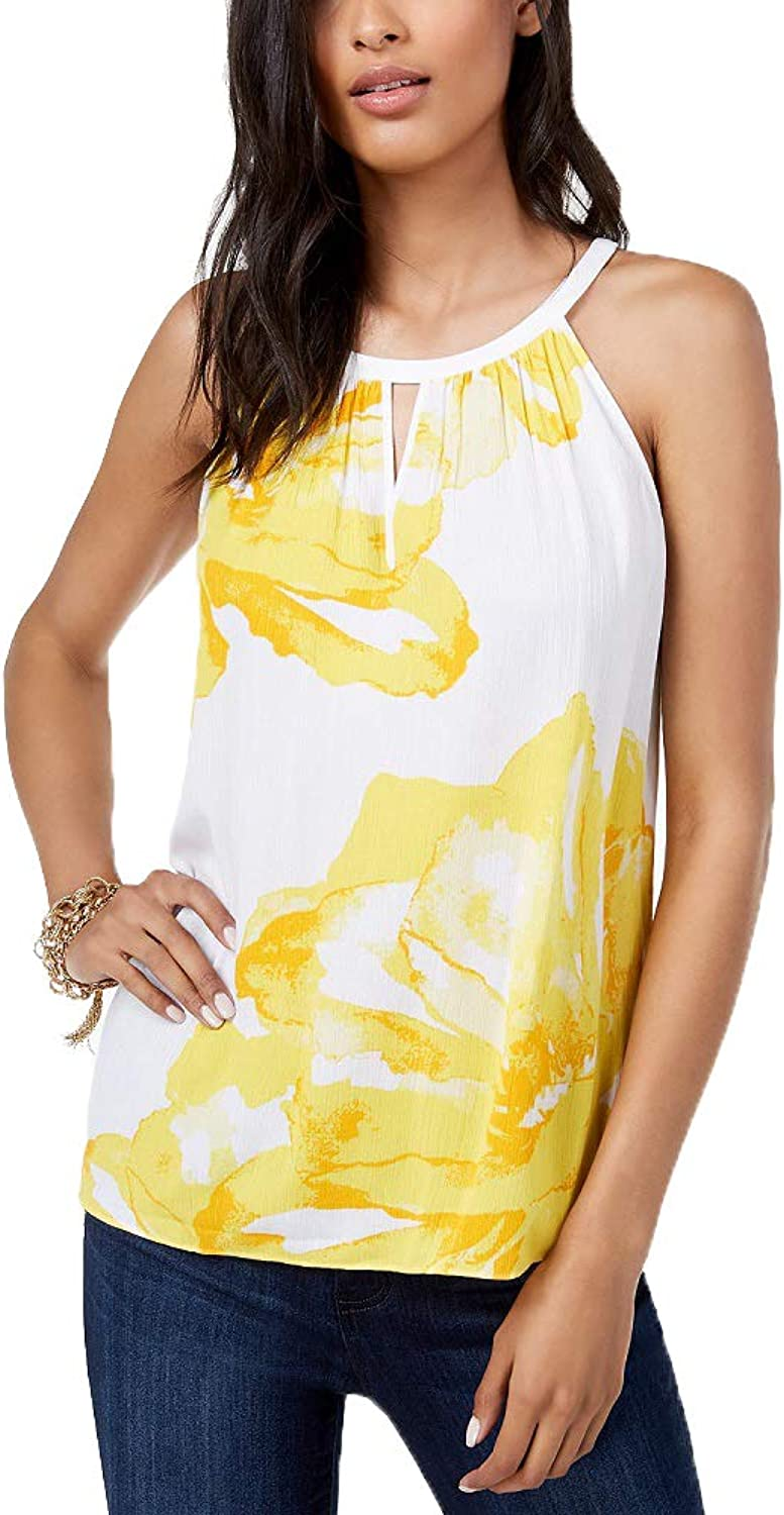INC International Concepts I.N.C. Sleeveless Printed Top
