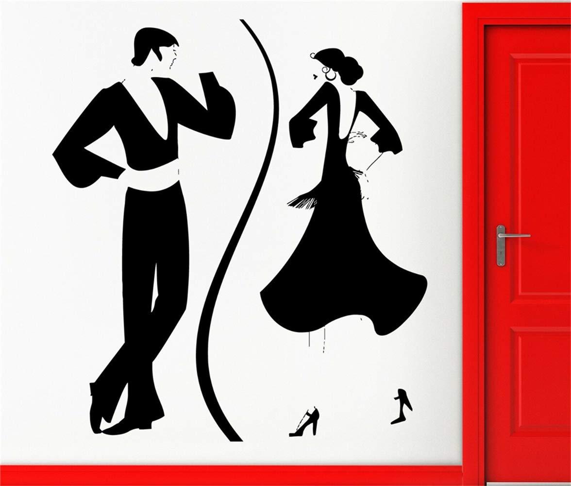 pegatina de pared frases Calcomanía Danza Española Baile Tango Sala de estar fresca sala de baile sala de chicas sala de parejas: Amazon.es: Bricolaje y herramientas