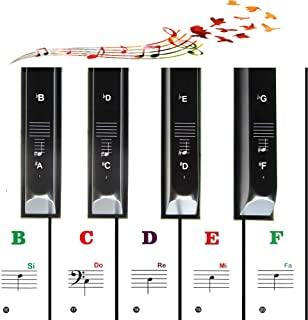 Color Piano Stickers for Kids Beginners 49/54/61/88 Key Keyb