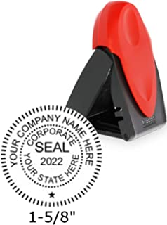 Trodat Mobile Printy Company Stamp Seal with Self Inking Ability, 1.6 x 1.6 Inches, Red, 1 Count (9440)
