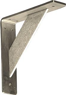 Ekena Millwork BKTM02X08X08TRSS  2-Inch W x 8-Inch D x 8-Inch H Traditional Bracket, Stainless Steel