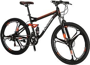 Dual Disc Brakes Full Suspension Non-Slip Celendi Nawenjuyu 26 inches Mountain Bike 26 Inch Wheels//17 Inch Frame Black 21-Speed