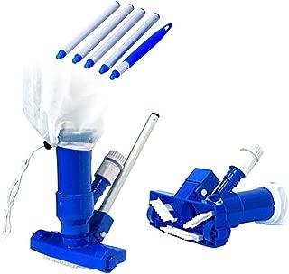PoolSupplyTown Pool Spa Jacuzzi Pond Mini Jet Vac Vacuum Cleaner w/ Brush, Bag, and 4' Pole