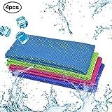 KAKOO Kühl Fitness Handtuch 4er Sofort Kaltes Kühlende handtücher 30x100cm Eis Kalt für heißes...