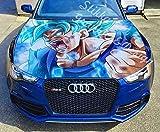 "Stikka Vinyl Car Hood Wrap Full Color Graphics Decal Anime Dragon Ball Goku Sticker 59""x69"" (150cm x 175cm)"
