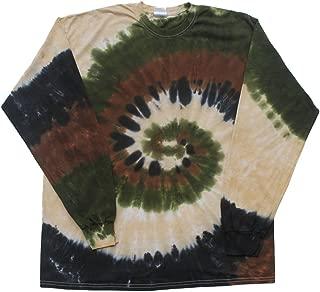 Tie Dye T-Shirts Camo Swirl Long Sleeve Adult Size