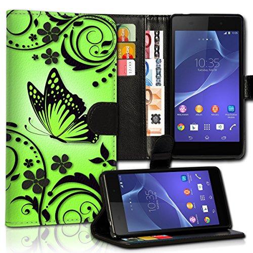 wicostar Wallet Book Style Flip Handy Tasche Hülle Schutz Hülle Schale Motiv Etui für LG L Bello - Variante UMV28 Design12