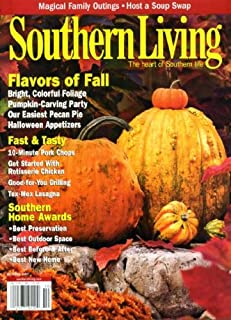Southern Living October 2007 Flavors of Fall, 10-Minute Pork Chops, Rotisserie Chicken, Tex-Mex Lasagna, Host a Soup Swap, Easiest Pecan Pie, Halloween Appetizers